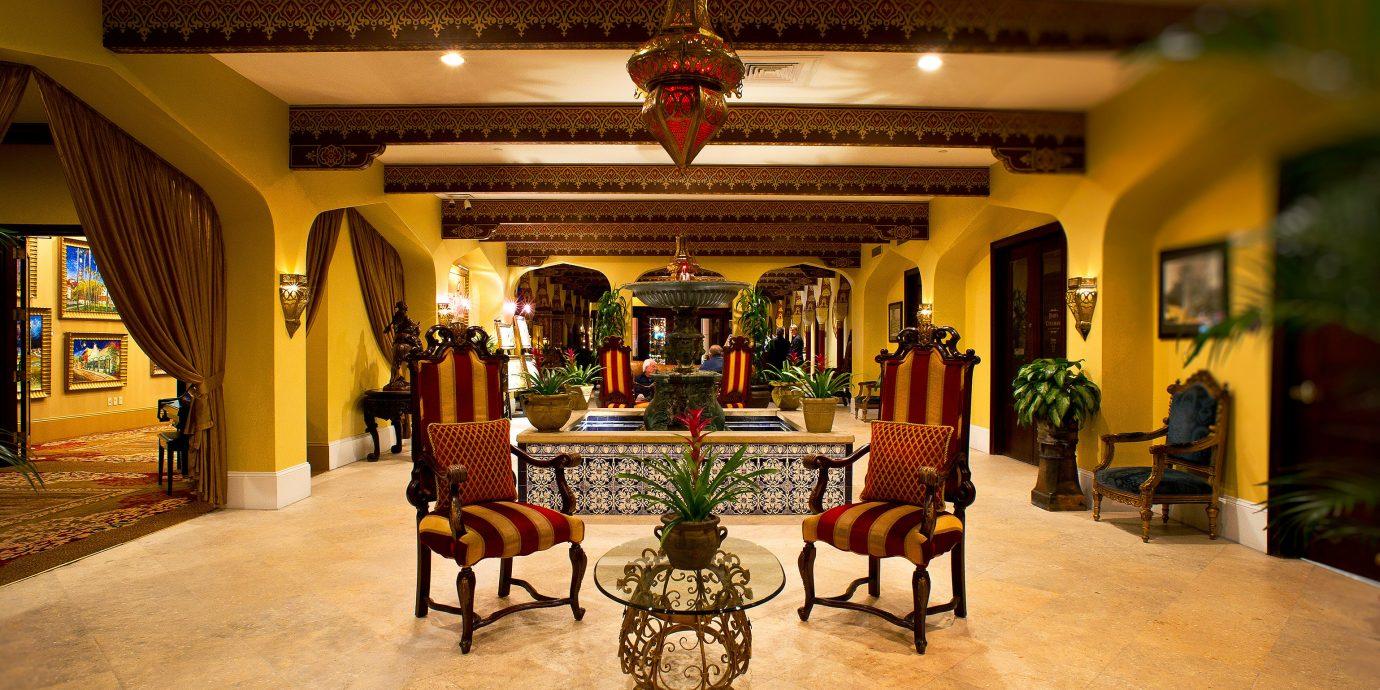 Lobby building palace mansion restaurant