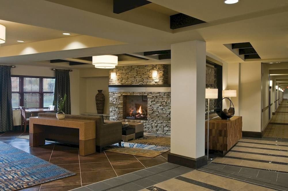 Lobby property living room home lighting condominium cabinetry flooring