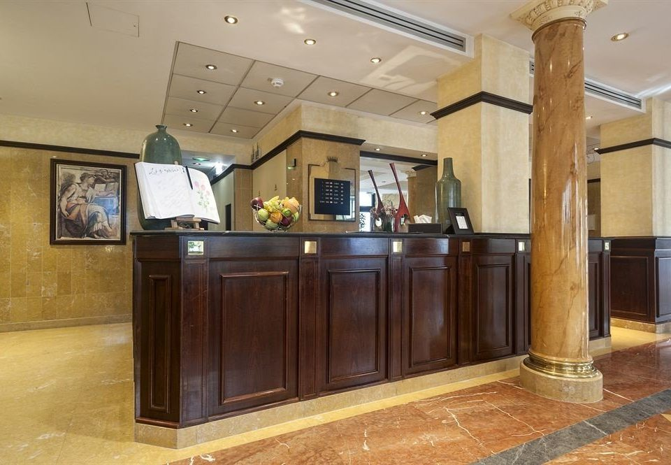 Lobby property cabinetry receptionist lighting home flooring