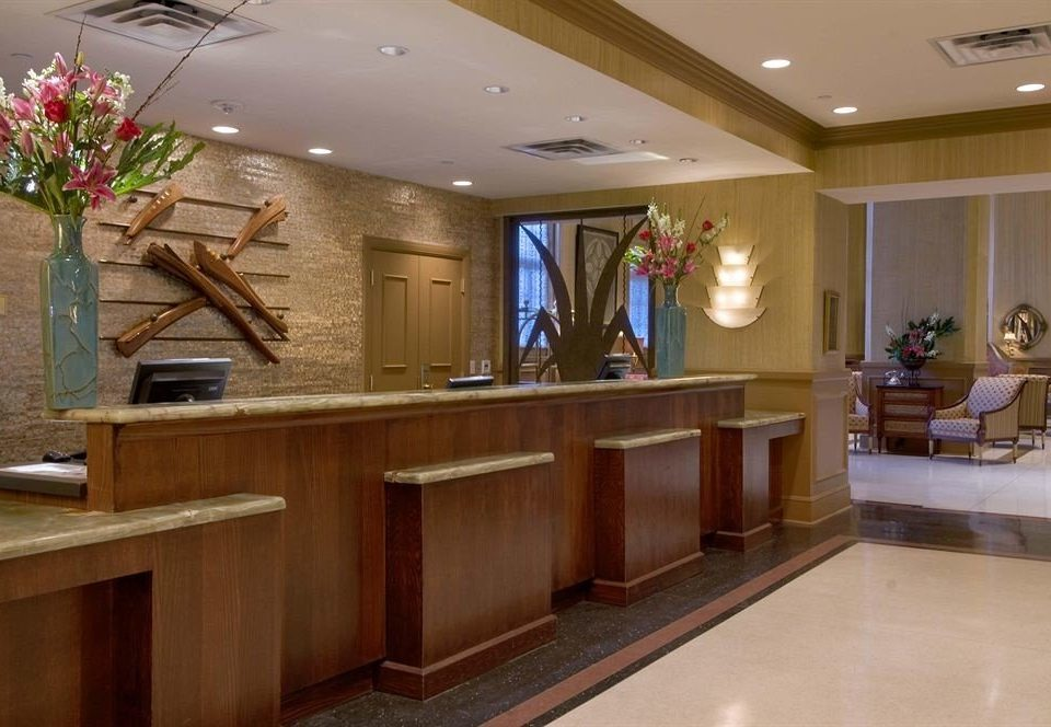 Lobby home restaurant plant cabinetry receptionist