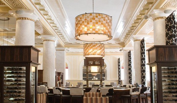 light fixture chandelier Lobby lighting restaurant function hall café daylighting