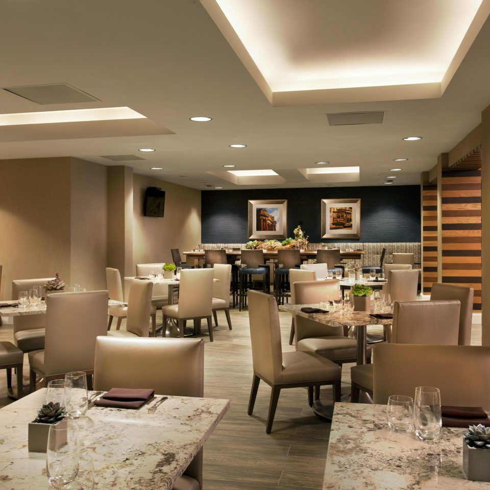 Lobby restaurant function hall conference hall living room condominium convention center café