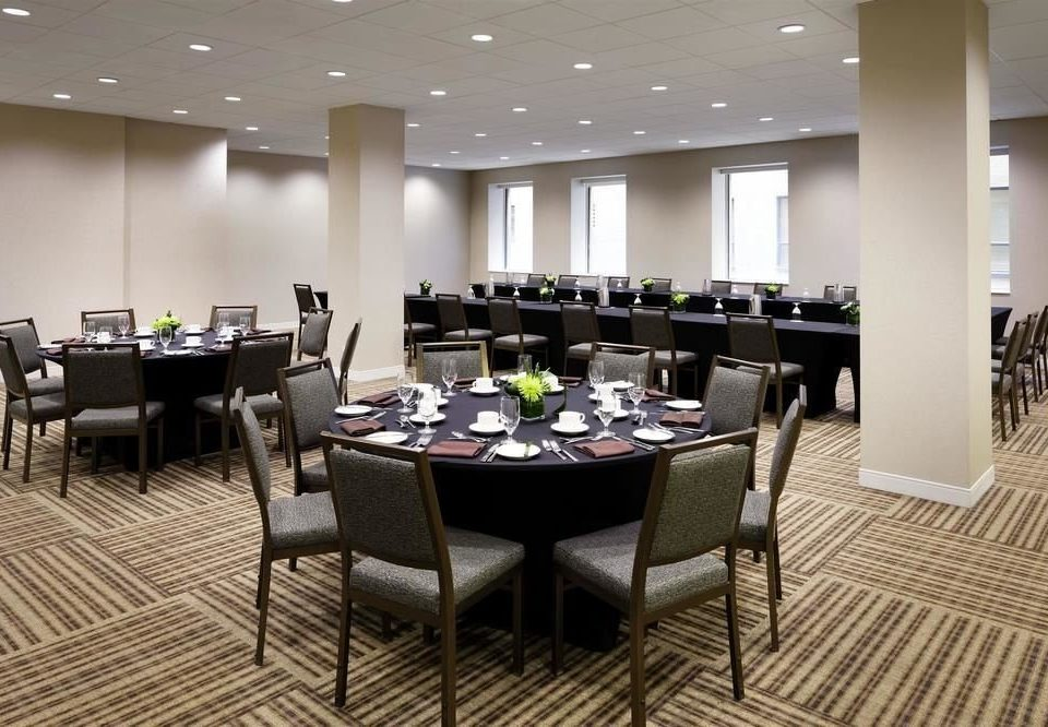 chair conference hall function hall Lobby convention center restaurant dining table