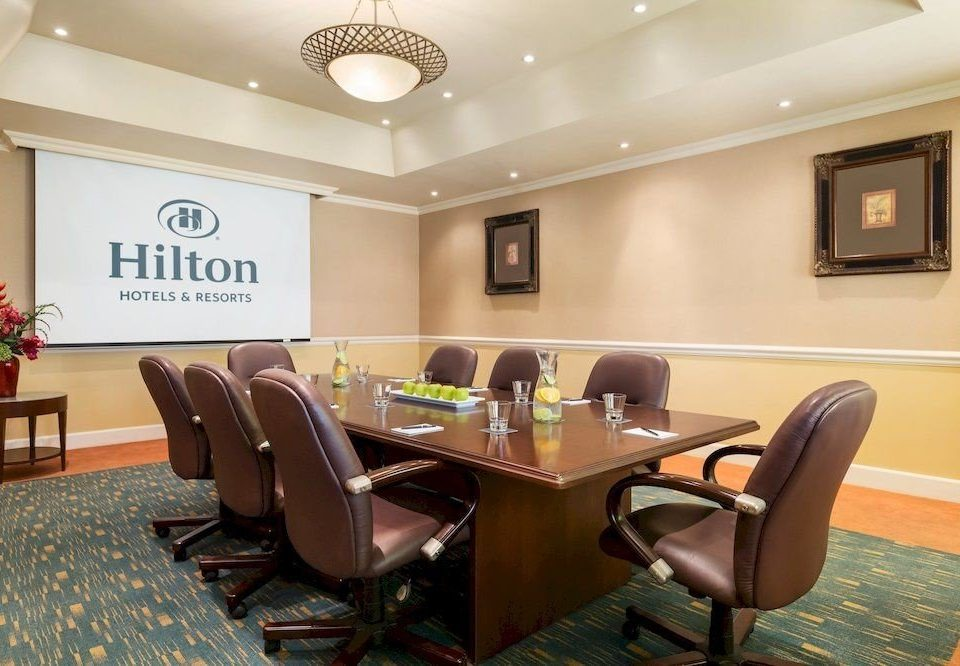 chair property conference hall Lobby waiting room office empty leather dining table