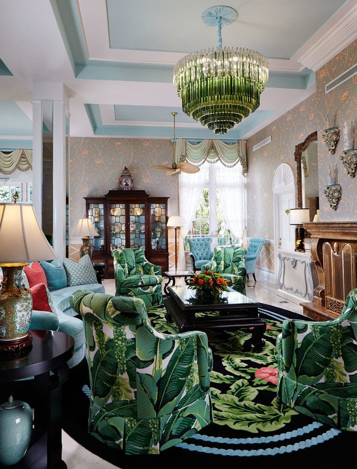 green living room home floristry mansion Lobby cluttered dining table