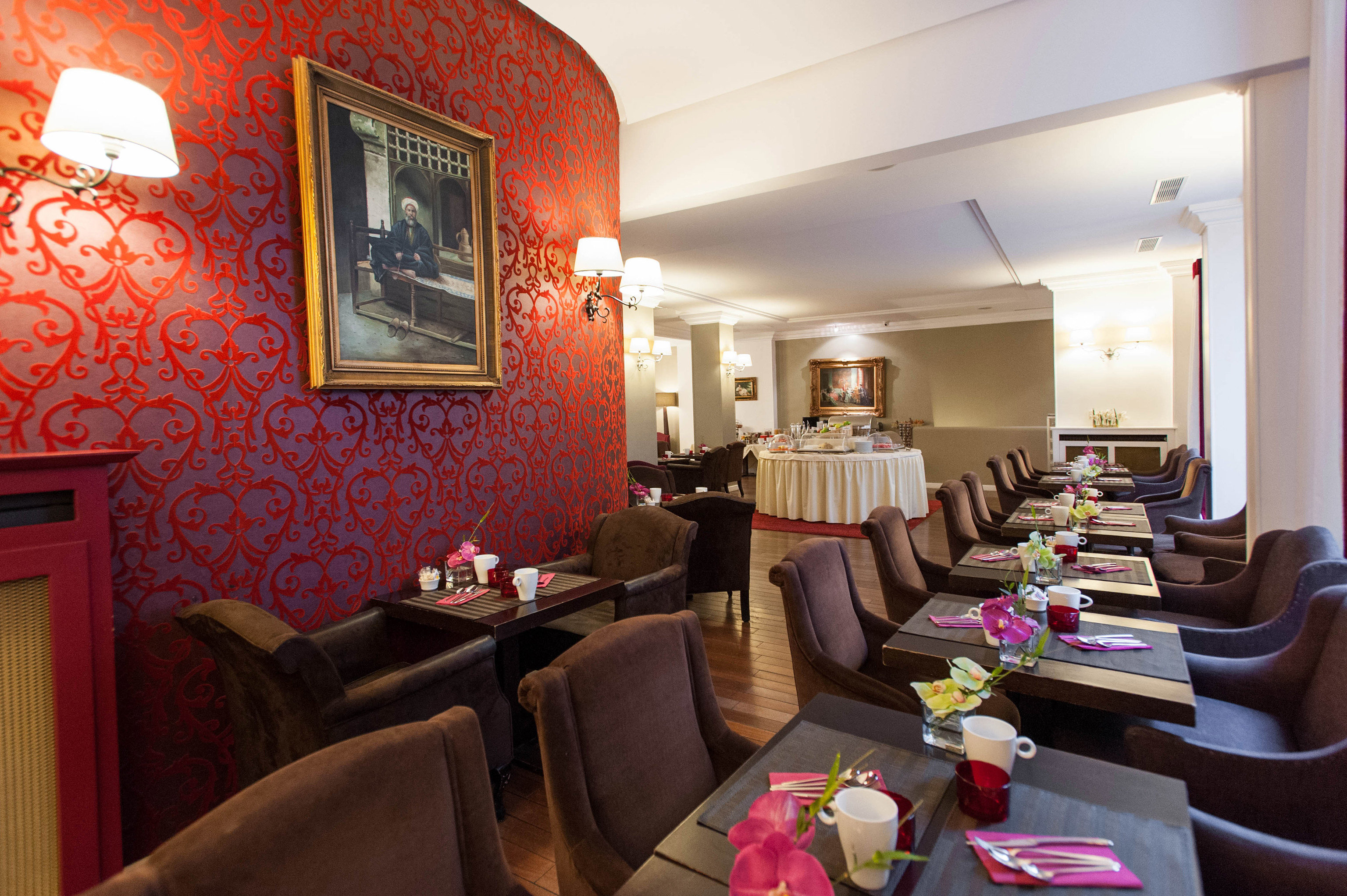 restaurant living room Lobby function hall colorful colored