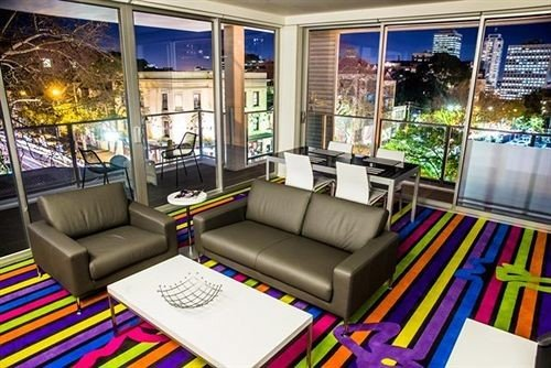 living room condominium Lobby colorful