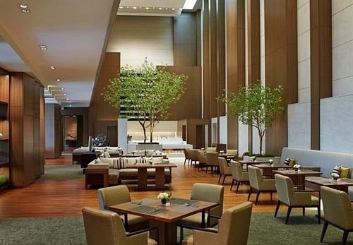 Lobby property restaurant function hall condominium convention center conference hall