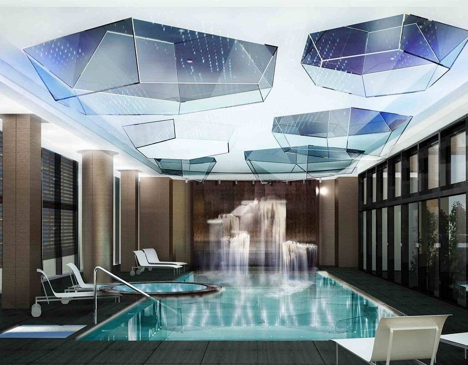 swimming pool leisure centre daylighting convention center headquarters condominium Lobby