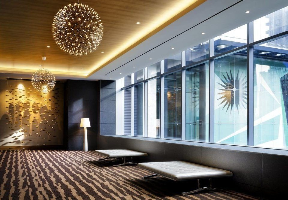 Lobby condominium lighting daylighting living room home headquarters convention center