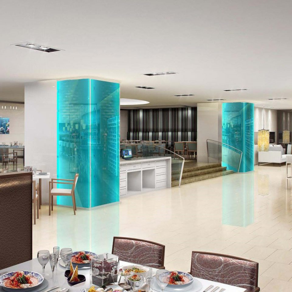 property Lobby condominium counter restaurant