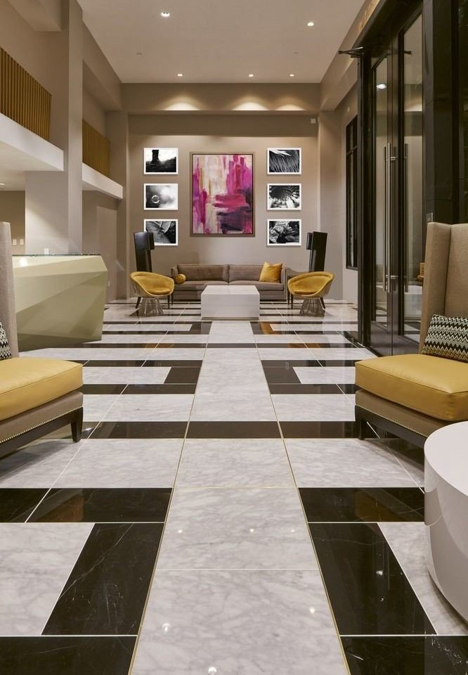 Lobby living room flooring hardwood home wood flooring tile condominium