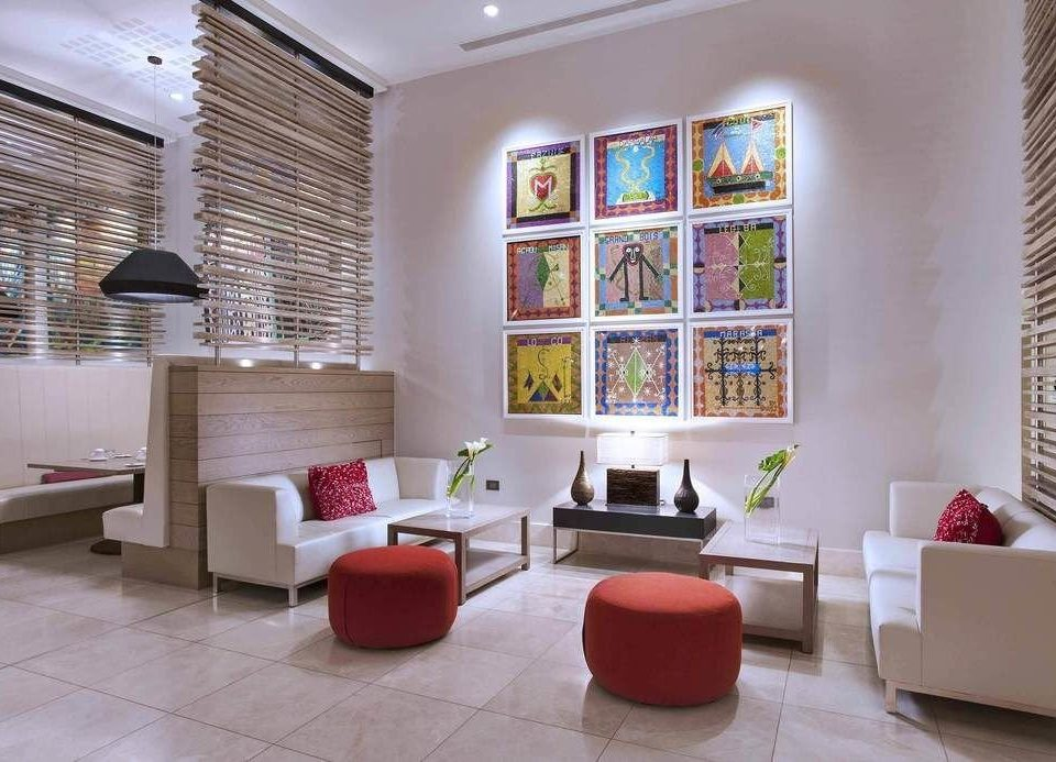 living room property home Lobby condominium red loft flooring waiting room
