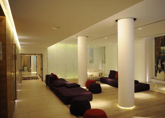 property Lobby living room lighting condominium