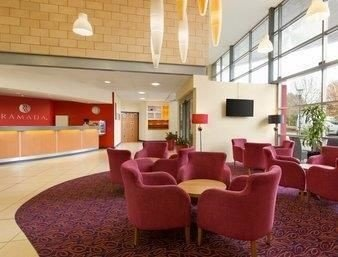 property Lobby conference hall red waiting room function hall convention center recreation room