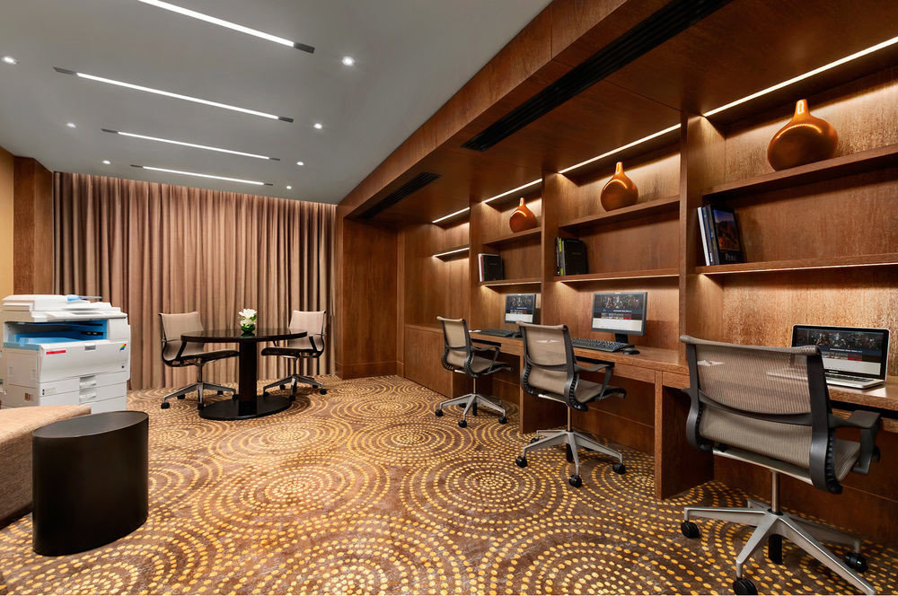Lobby conference hall recreation room living room office