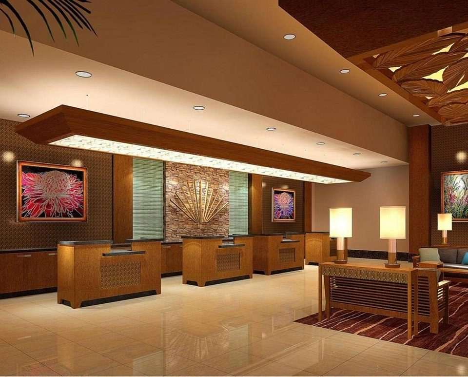 Lobby recreation room living room function hall convention center
