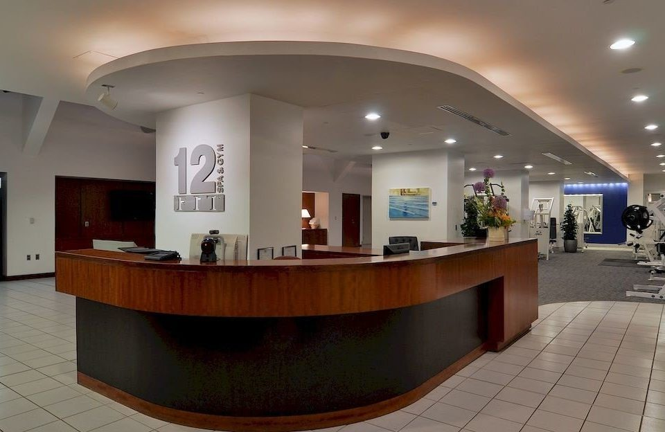 Lobby receptionist convention center headquarters