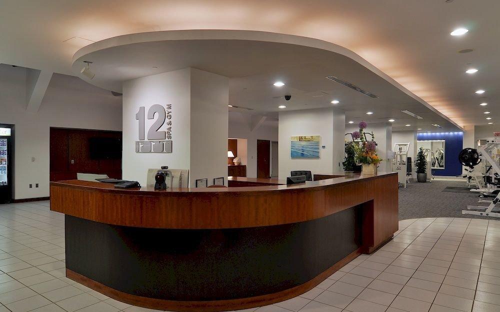 Lobby receptionist convention center headquarters