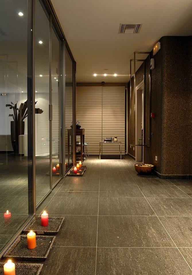 flooring Lobby light lighting home hall wood flooring tile counter