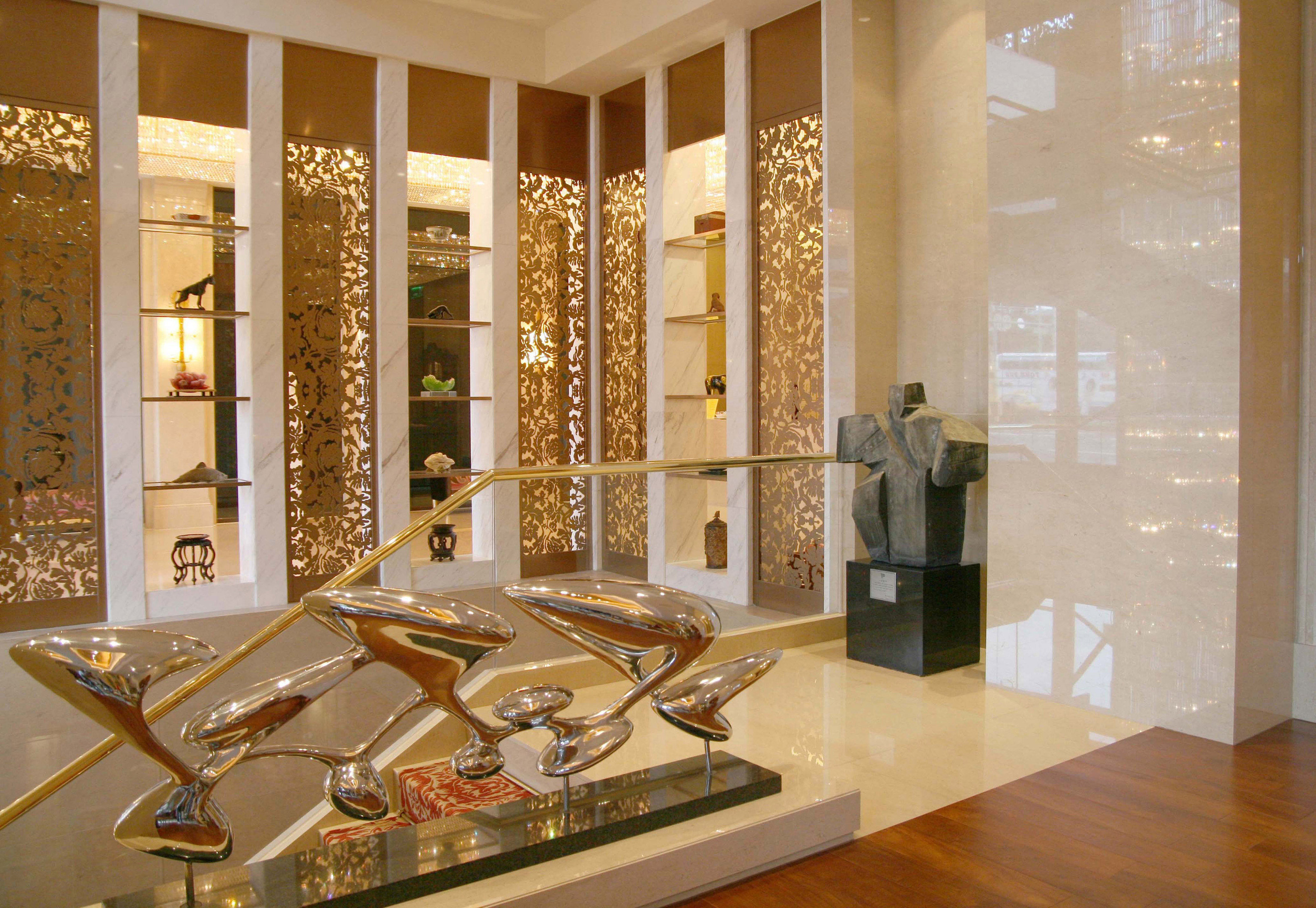 Lobby tourist attraction living room counter glass