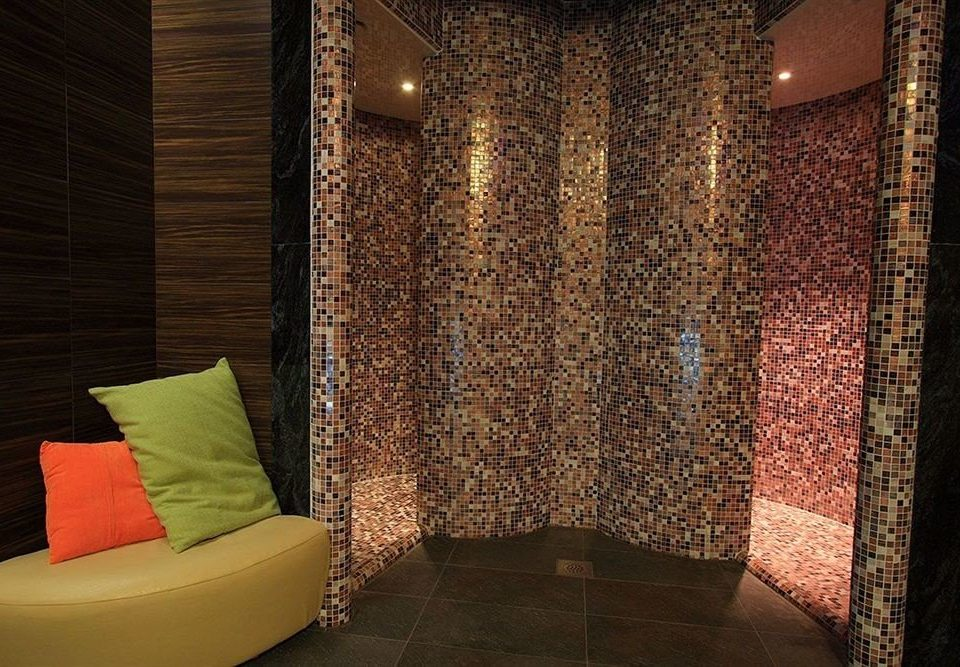 Lobby lighting flooring curtain textile seat tiled tile