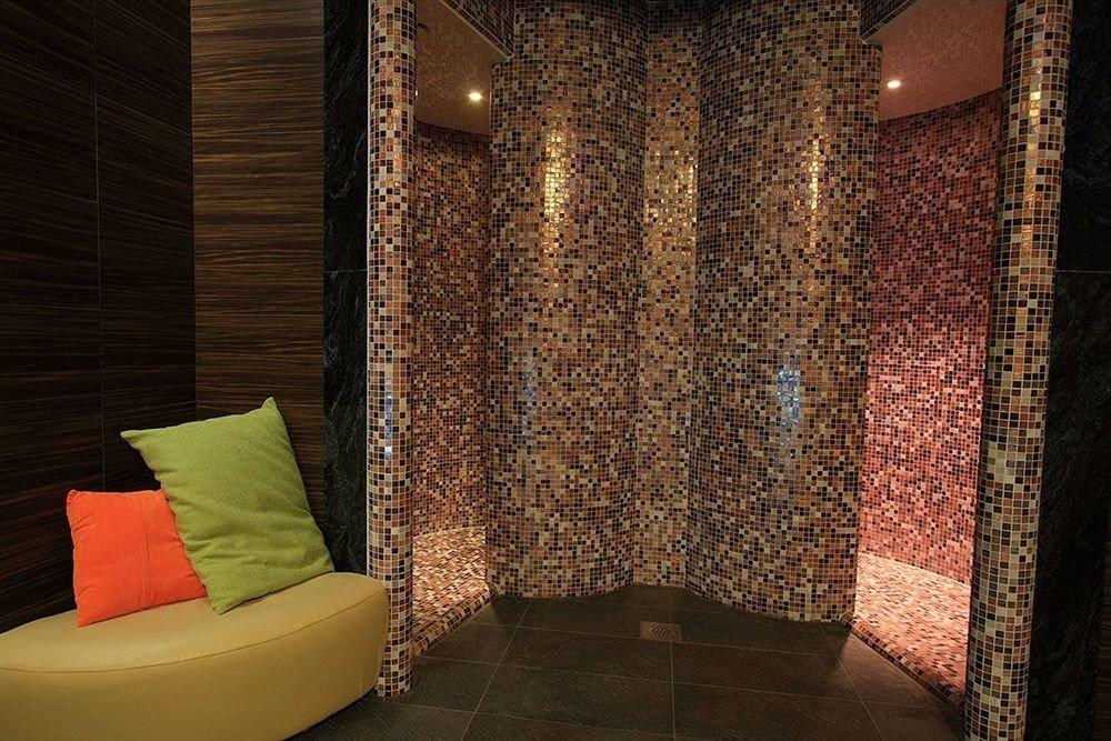 Lobby lighting flooring curtain textile seat tiled tile