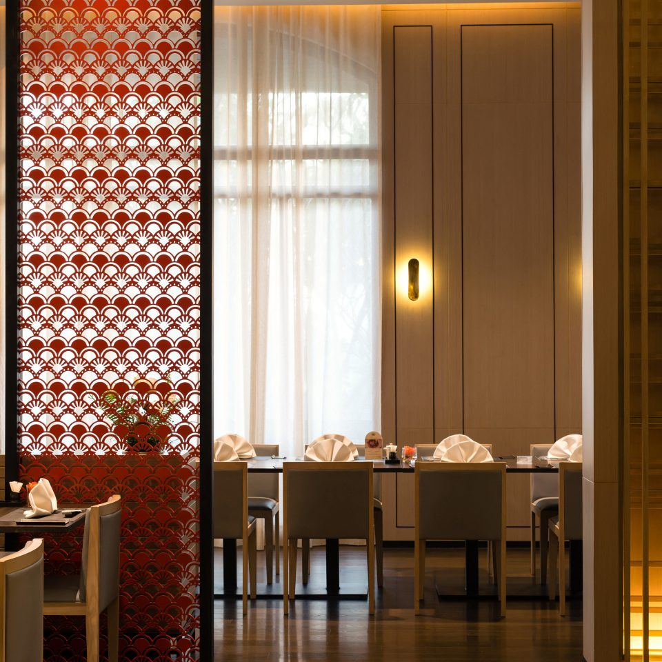 lighting curtain restaurant window treatment Lobby