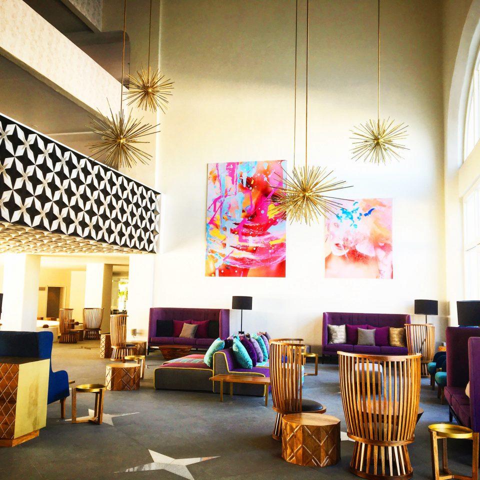 Lobby decor interior designer dining table