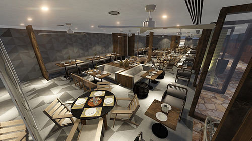 property Lobby restaurant dining table