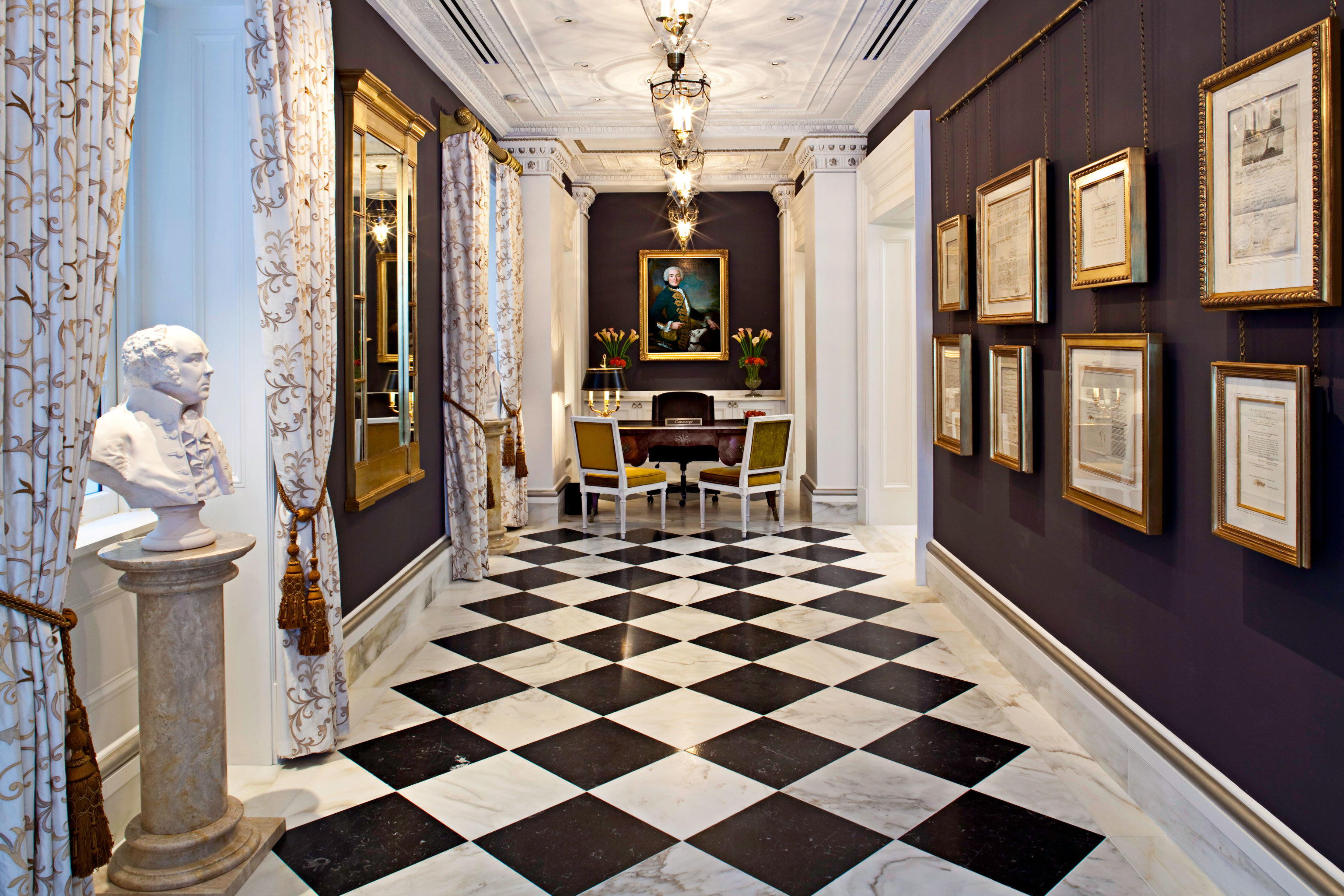 Lobby mansion home tourist attraction hall flooring living room palace