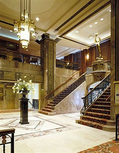 Lobby stairs lighting flooring hall mansion