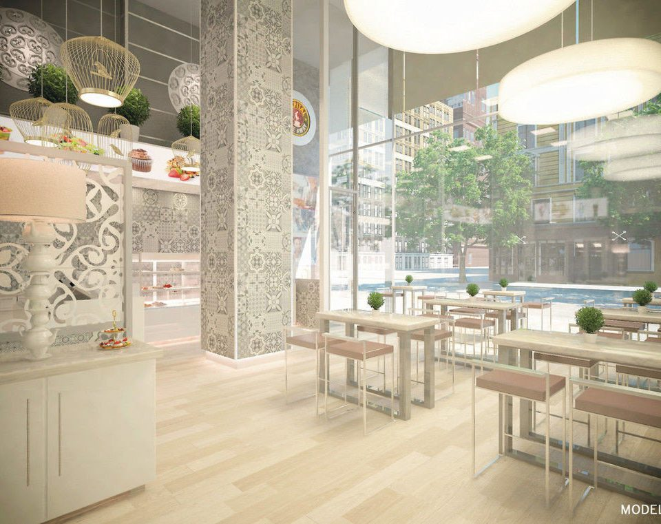 Lobby flooring restaurant
