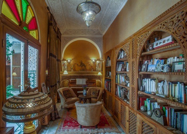 property library shelf Lobby hacienda