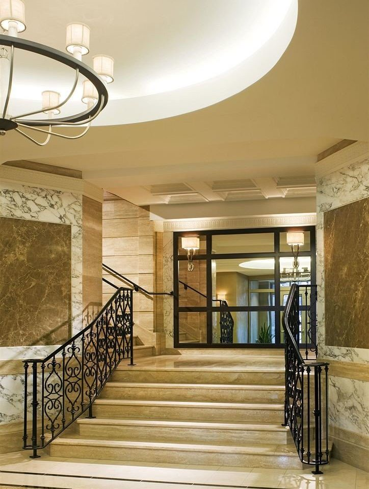 property Lobby lighting stair home hall metal step