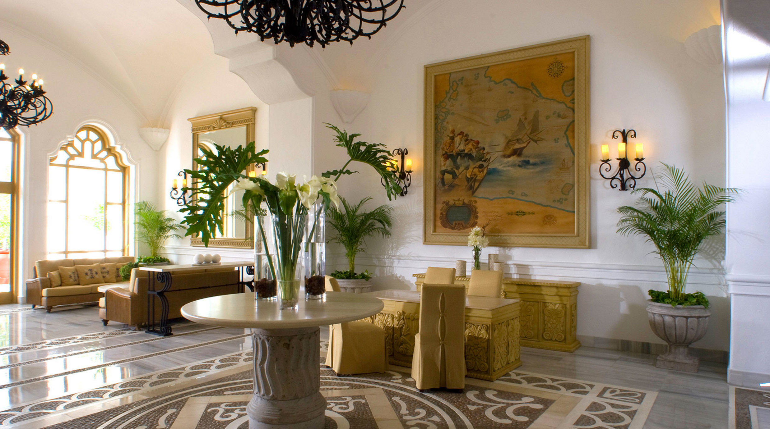 property Lobby home mansion living room hall plant