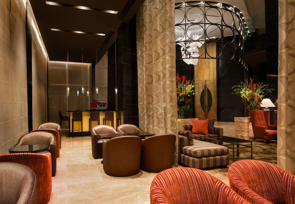 Lobby living room home lighting restaurant leather