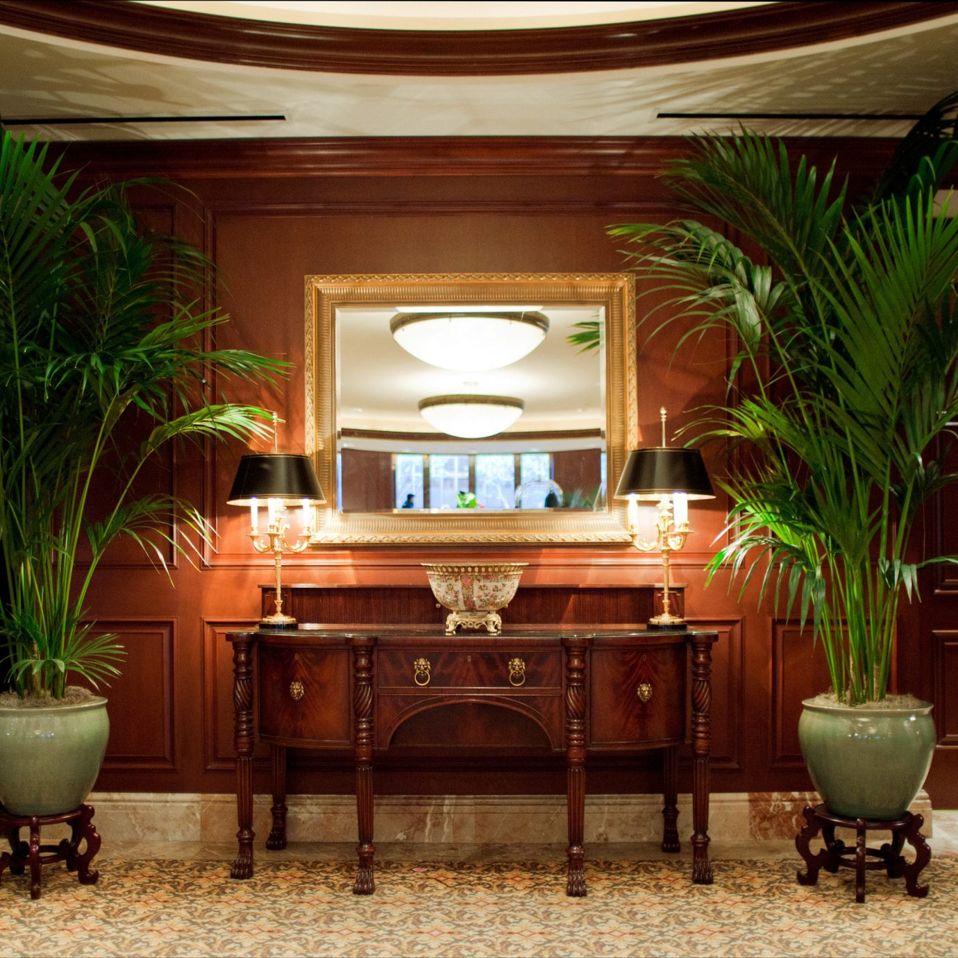 Lobby plant home living room lighting mansion