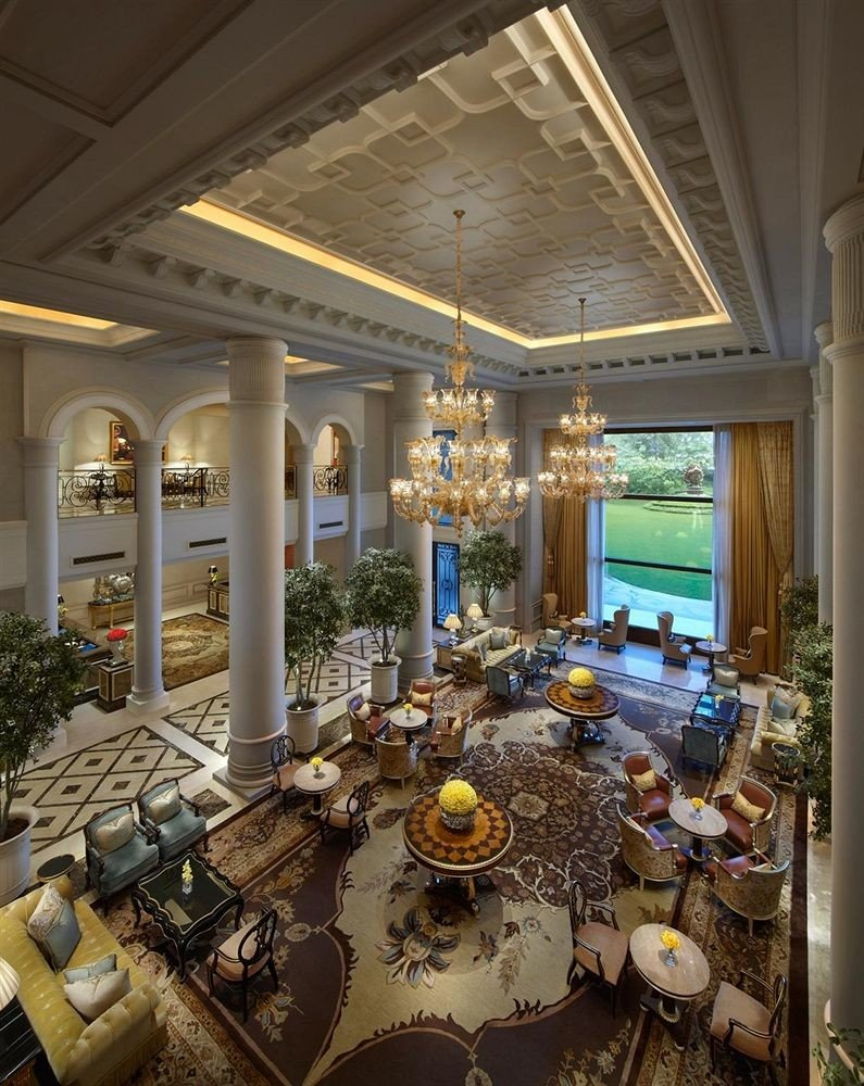 Lobby living room home mansion lighting palace