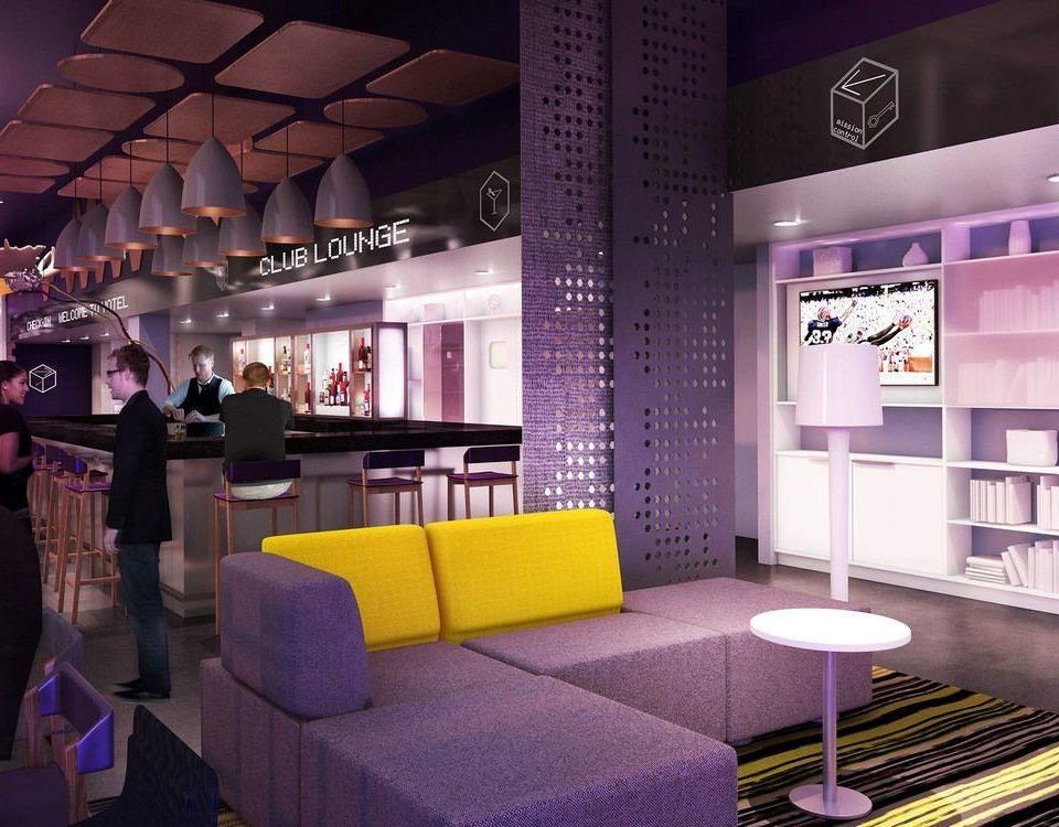 purple Lobby restaurant interior designer