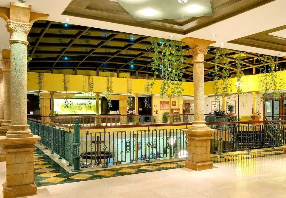 yellow Lobby library shopping mall restaurant plaza retail subway