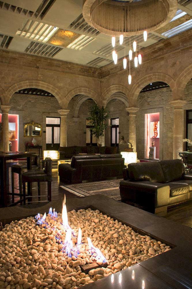 Lobby living room lighting tourist attraction stone