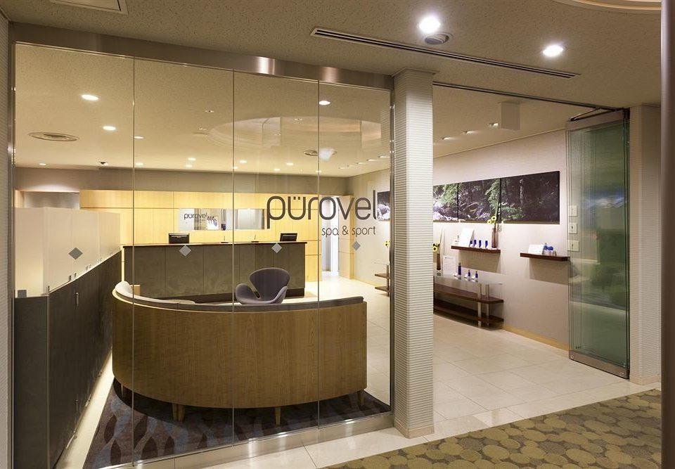 property Lobby receptionist lighting