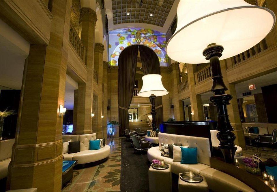 Lobby restaurant lighting