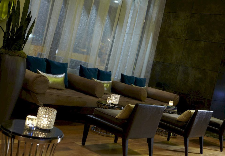 Lounge Luxury curtain living room restaurant Lobby arranged