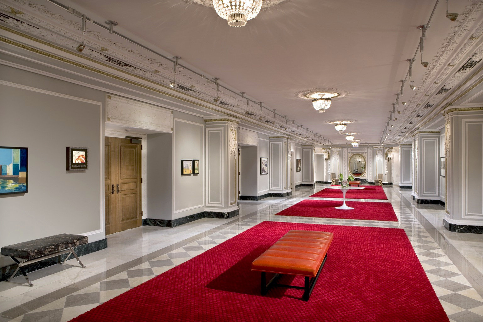 Lounge Luxury property red Lobby flooring function hall living room conference hall mansion ballroom recreation room hall