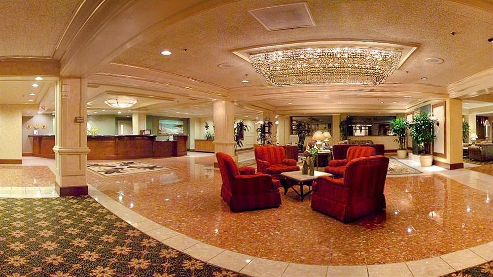 Lounge Luxury Modern Lobby function hall conference hall ballroom convention center mansion living room auditorium restaurant palace
