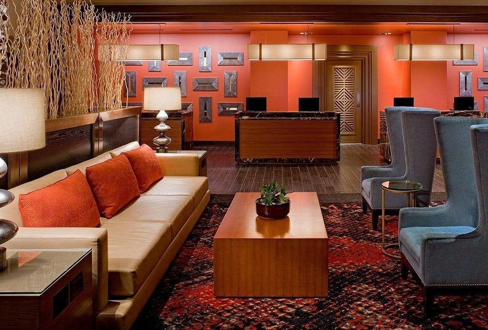 Lounge Luxury Modern chair property living room orange Suite Lobby recreation room
