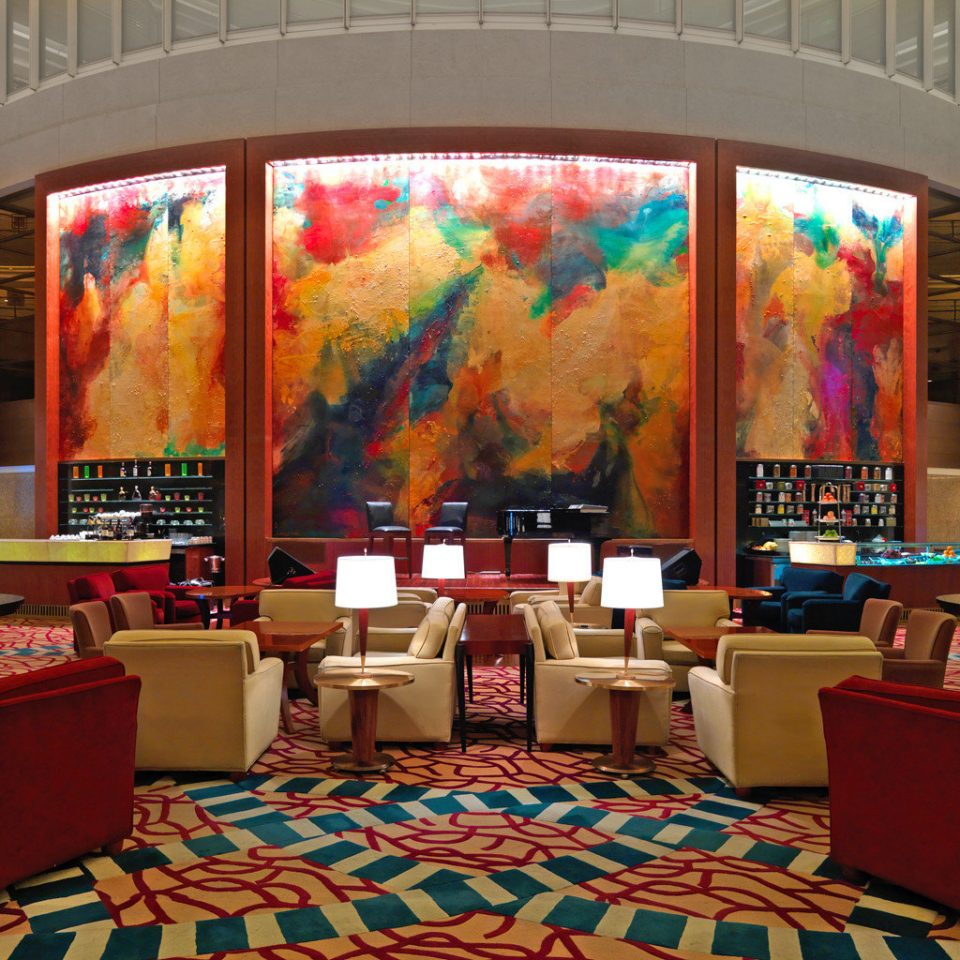 Lounge Luxury Modern Lobby restaurant colorful
