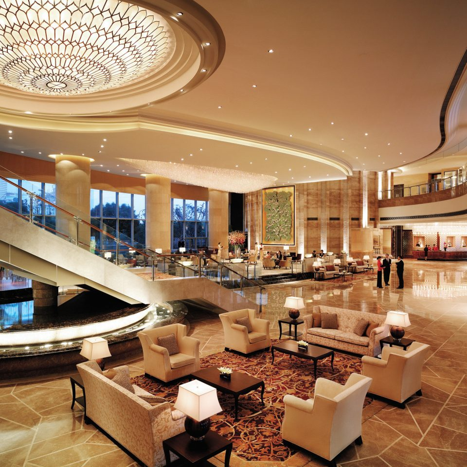 Lounge Luxury Modern Scenic views Lobby shopping mall building retail convention center plaza function hall ballroom restaurant